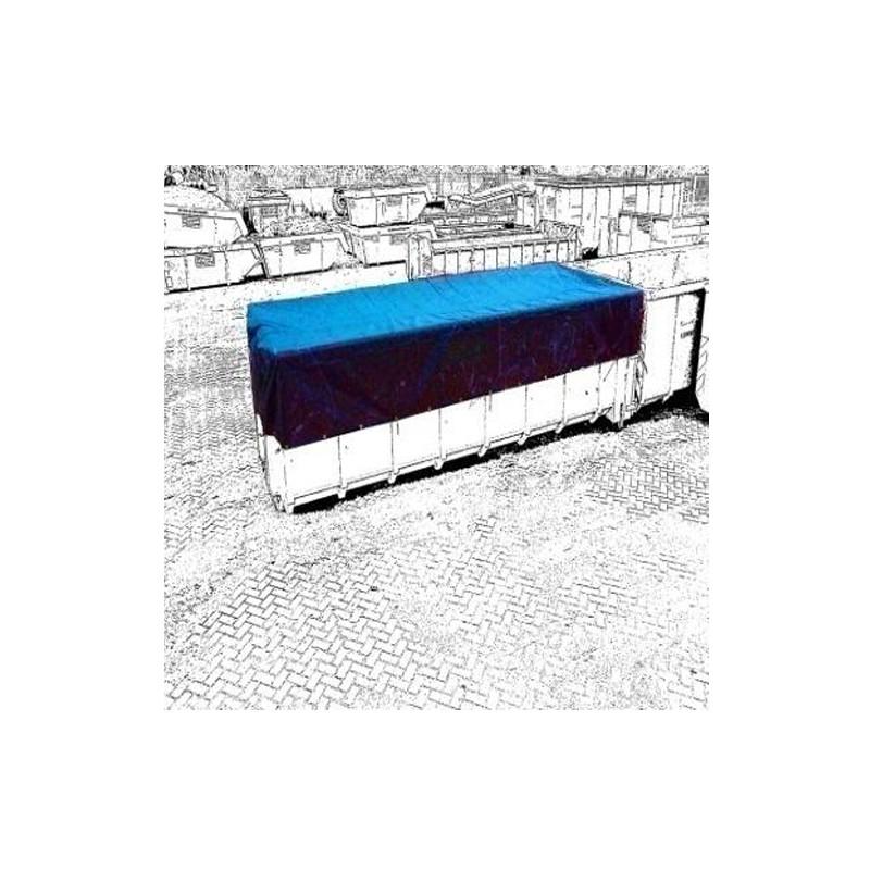 bache de benne bleu pvc600gr m confection avec oeillets. Black Bedroom Furniture Sets. Home Design Ideas