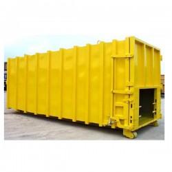 BACHE COMPACTEUR PVC 600G/M² SUR MESURE OEILLETS TOUS LES 30CMS.