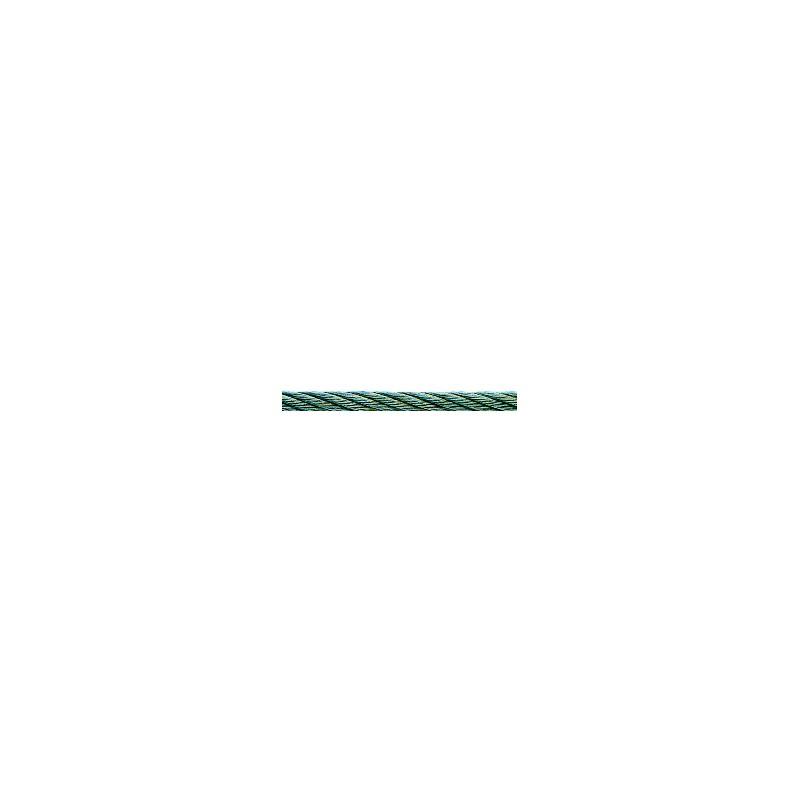 Cable acier inoxydable resist 410 kg rouleau de 50 m - Cable acier 6mm ...