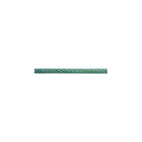 CABLE ACIER DUR GAINE RESIST. 150 KG,  ROULEAU DE 40 M, DIAMETRE 3.5MM