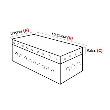 Filet de benne sur mesure micromaille polyethylene 170g/m²