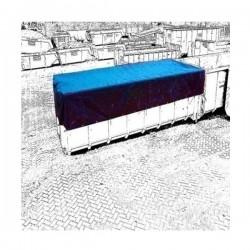BACHE DE BENNE BLEU PVC 600GR/M² CONFECTIONNEE AVEC OEILLETS TOUS LES 50CM