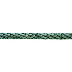CABLE ACIER DUR GALVANISE QUALITE LEVAGE 6 MM, RESIST. 430 KG ROULEAU DE 60M